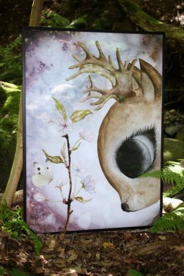 """Nature's own Story"" - The Deer and cherry blossom"