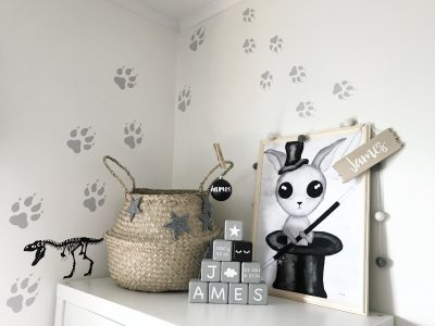 WALLSTICKERS - Wolf tracks